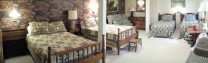 #21 Family Room with Two Double Beds and Two Twin Beds with love seat.