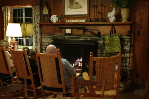 Enjoy the fireplace in the dining room.