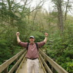 Mort while hiking Mt. LeConte in the Smokies!