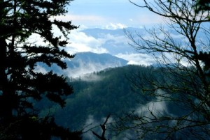 Beautiful Smoky mountain vista, as photographed here by innkeeper Mort White.